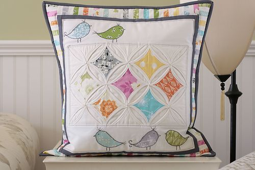 great pics on this post of Cathedral windows quilts and a link to a tutorial