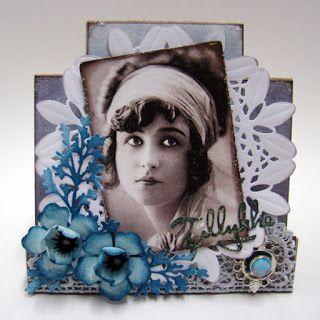 Gavlhuset: Folde kort med smykke-pynt