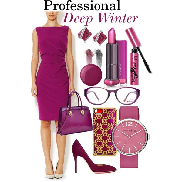 The Professional Deep Winter by prettyyourworld on Polyvore featuring Ava & Aiden, Charlotte Olympia, Dasein, MARC BY MARC JACOBS, Miadora, Tech Candy, NARS Cosmetics, Essie and Bobbi Brown Cosmetics