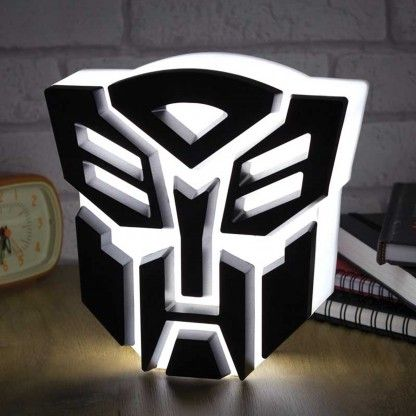 Just the thing to provide a unique light feature for the room! Available to buy from http://www.glow.co.uk/transformers-autobot-light.html