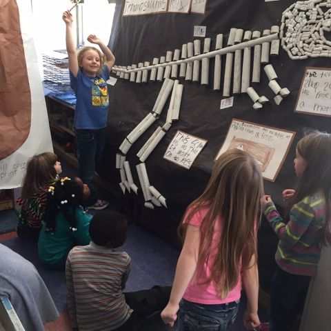 After exploring dinosaurs for a while, the kids have decided on a project to turn our room into a dinosaur museum to teach other classes all...