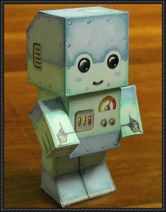 This paper toy is a simple Chibi Robot, created by markcrilley. You can download the papercraft toy here: Simple Chibi Robot Paper Toy Free Download