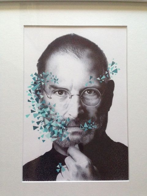 Steve Jobs by Lucinda Neethling Bic pen on paper  #ballpoint #drawings #SteveJobs www.whatlucyloves.co.za