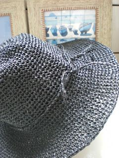 Get raffia to crochet a sun hat! Now, why haven't I thought of this?