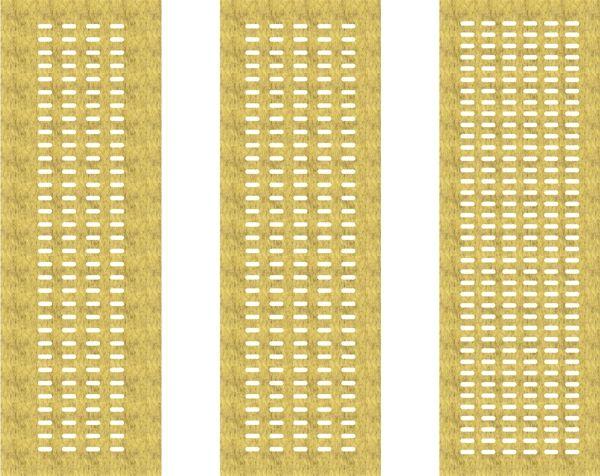 akoestisch paneelgordijn van vilt - akoestiek - cut out - model long dot