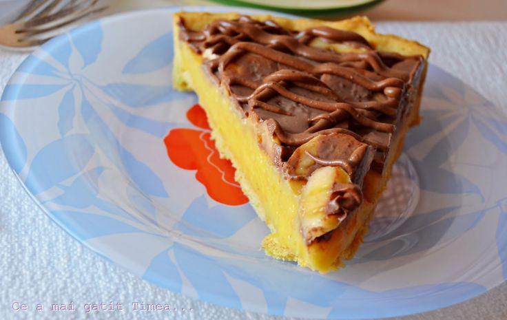 Ce a mai gatit Timea...: Tarta cu crema de vanilie si banane
