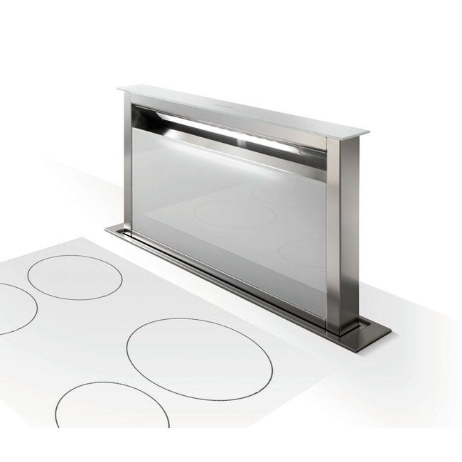 Faber Fabula Hood Downdraft Cm. 90 - Inox - White Glass