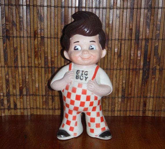 Vintage Big Boy Toy Penny Bank - 1970's Restaurant Fast Food Bank Toy - 1973 Vintage Big Boy Restaurant Toy - Big Boy Restaurants
