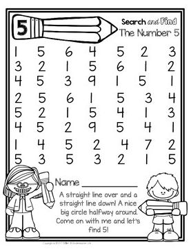 FREEBIE - Number recognition activity for the number 5
