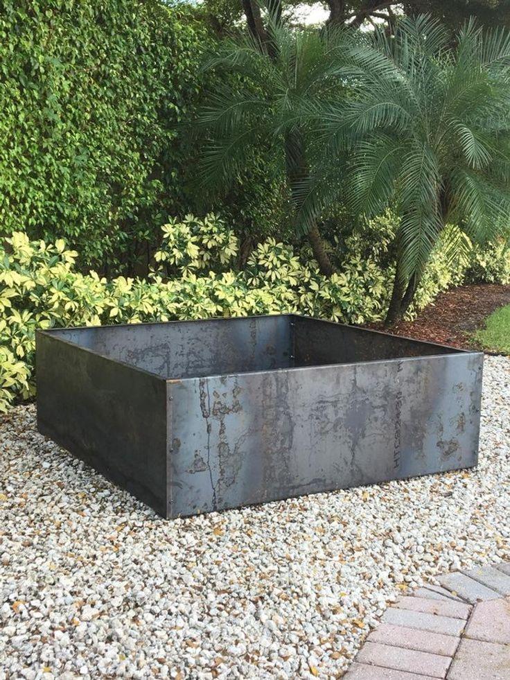 Corten Steel Diy 54 X 54 X 20 H Raised Planter Bed 640 x 480