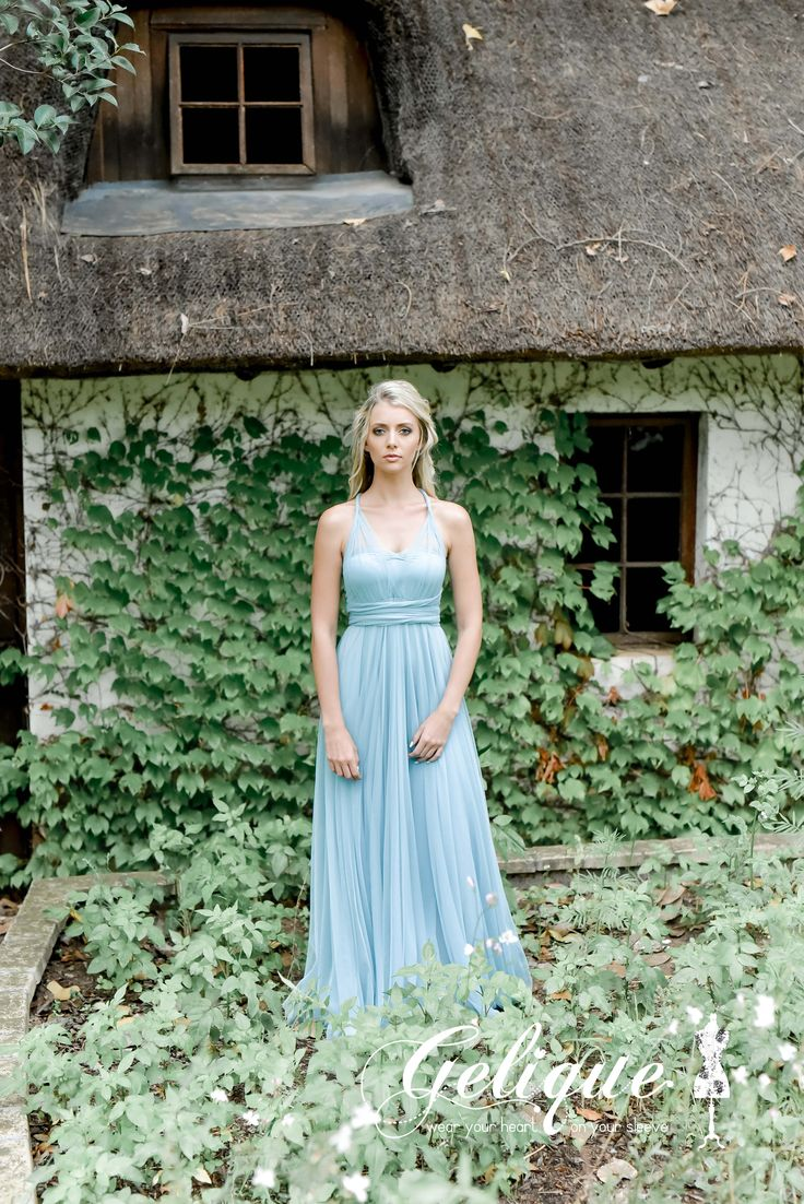 Edith dress from Gelique available at Brides of Somerset.  Convertible elements by adding soft tulle arms bands. This addition allows the dress to be worn in infinite styles while offering all the benefits of the Emma Dress. Boobtube, tulle sleeved versatile bridesmaids dress.