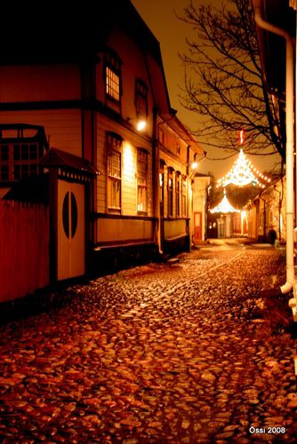 Old town Rauma at Christmas time