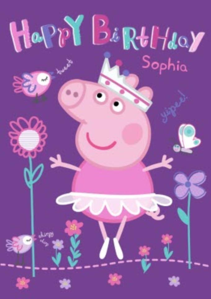 Happy Birthday Peppa Pig Card Peppa Pig Happy Birthday Peppa Pig Birthday Pig Birthday