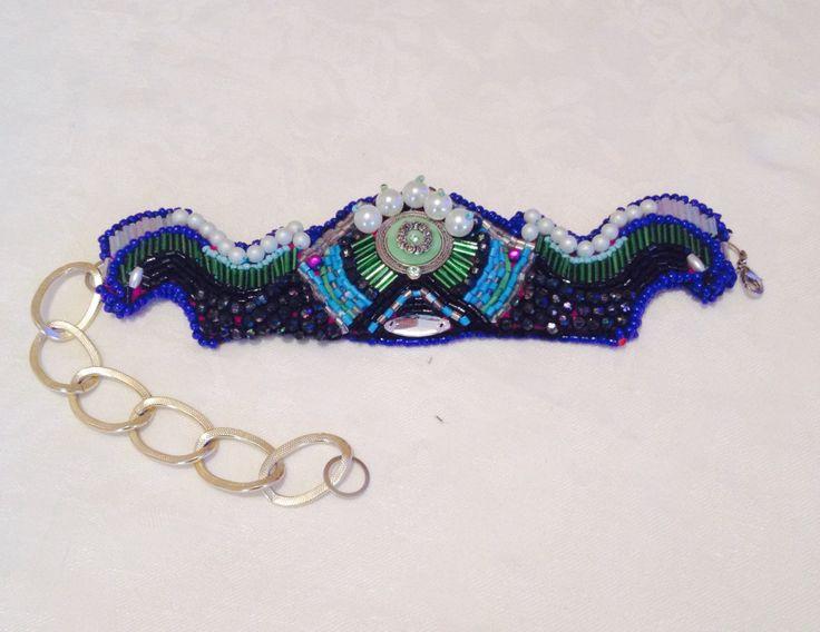 Bead embroidered bracelet & neckles