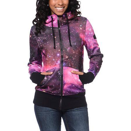Glamour kills infinite voyage pink tech fleece jacket for Outer space fleece