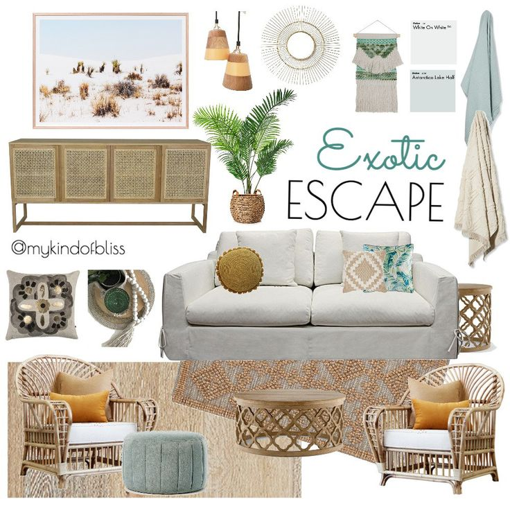 blushing beauty, my kind of bliss, boho style, hamptons, nordic, pom pom, cane furniture, bohemian, mood board, coastal decor, interior design, interior stylist, bedroom , australian designer, property stylist, living room inspo, styling, home decor, linen, white room, kmart, target, zanui, homewares, cushions, room design, beach house, coastal home, protea, rattan furniture, pink, pastel palette
