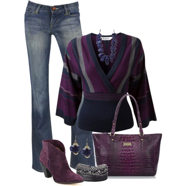Purple casual wear