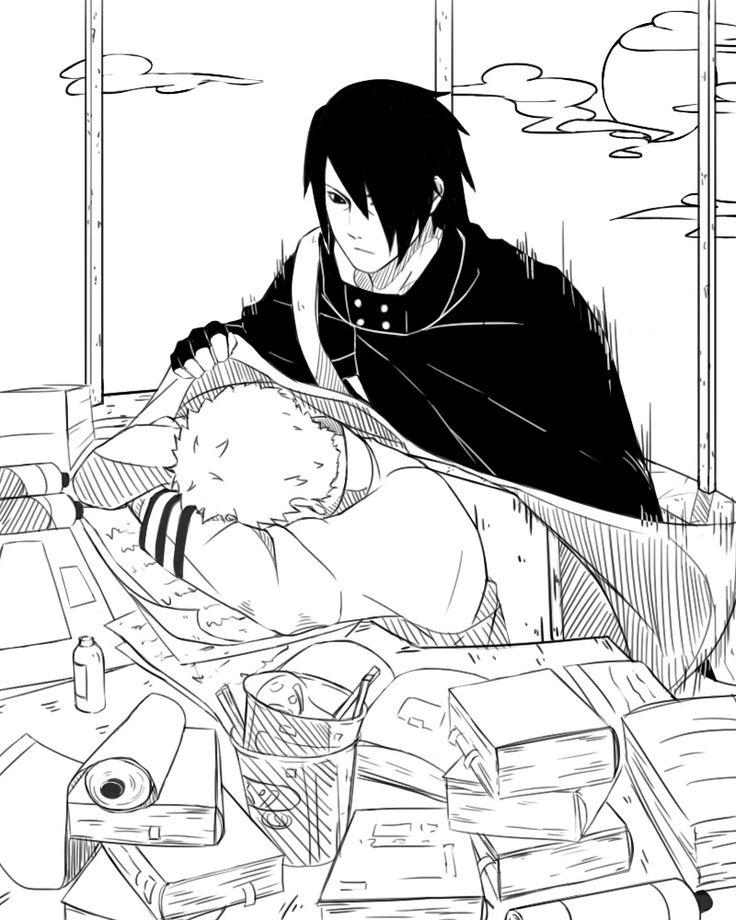 Naruto and Sasuke Sasuke is tugging him in!! Ouumyygosh
