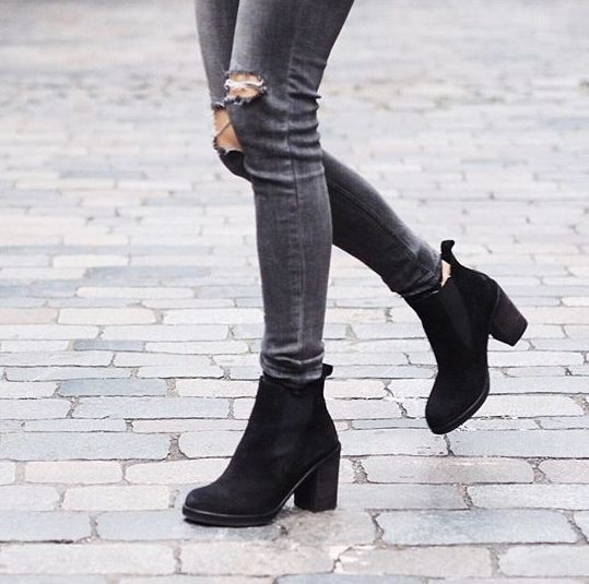 black suede boots outfits - photo #26