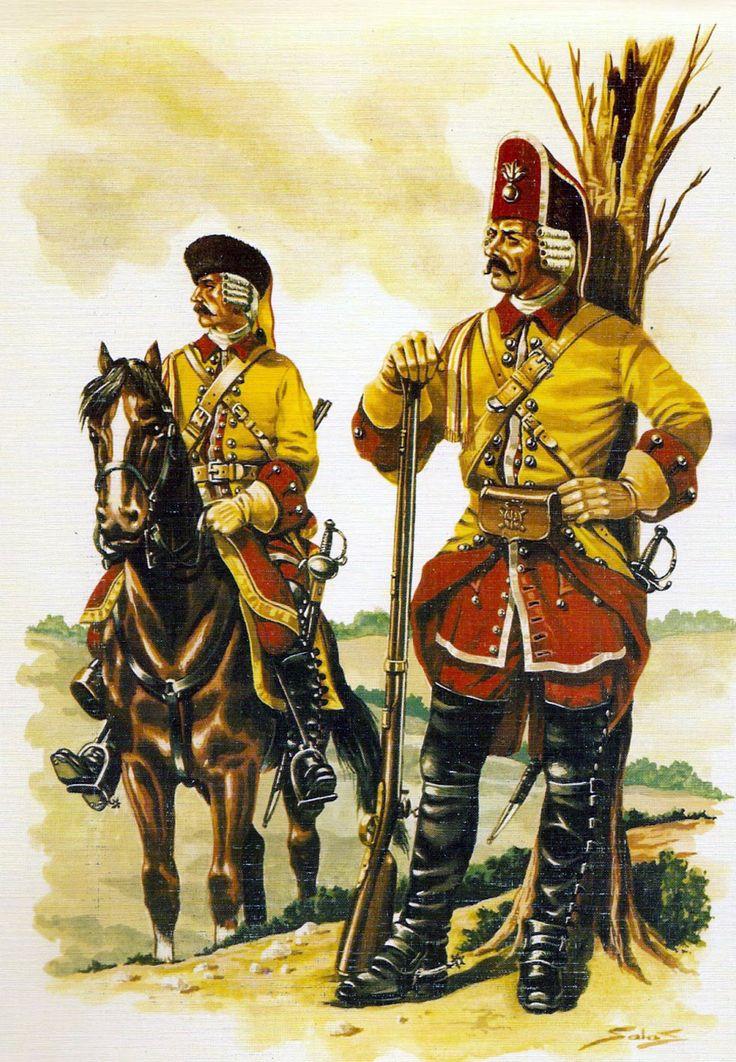 Pavian Dragoon and Grenadier