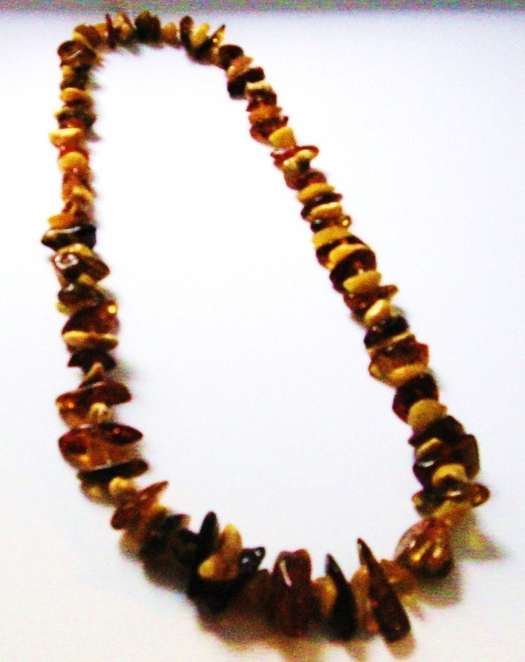 amber gemstone necklace mulit colored natural fossil rock mineral Poland