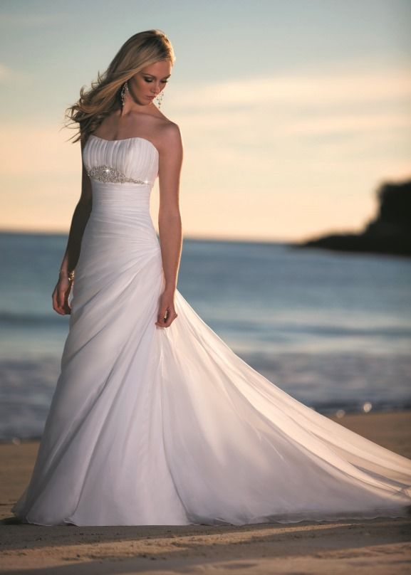 beach theme weddings ideas | Destination Beach Wedding Dress ideas Archives | Weddings Romantique