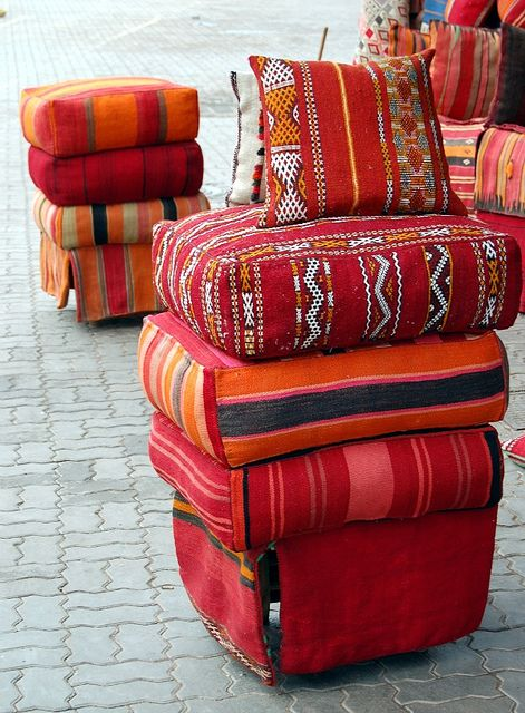 i sell loads of these cushions !! made from vintage hand loomed blankets from morocco .