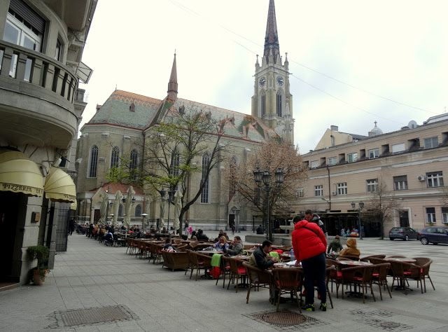 Outdoor Terrace in Novi Sad beside the cathedral