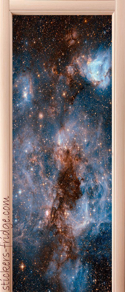 Наклейка на дверь - Глубокий космос