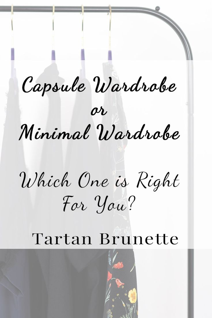 Do you want to reduce your wardrobe but aren't sure if a capsule wardrobe or minimal wardrobe is right for you? Find out which option is best for you.