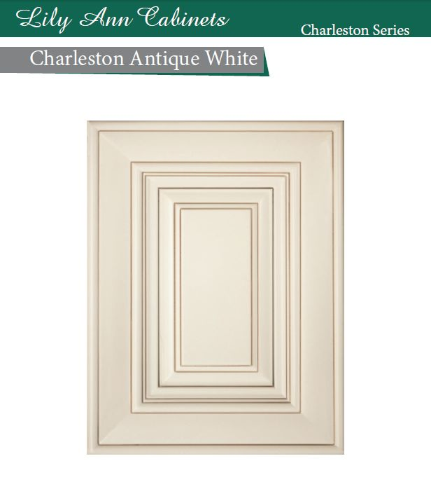 Charleston antique white color cabinets available for for Antique white kitchen cabinets for sale