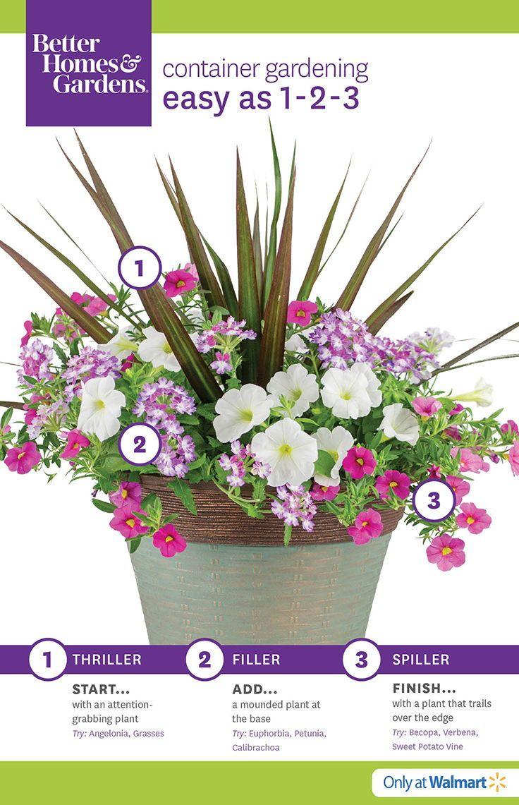 Better Homes U0026 Gardens At The #Walmart #Garden Center #flowers #gardening # Plants | Flor,,,,,,,,,, | Pinterest | Plants, Gardens And Container  Gardening