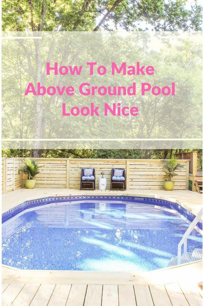 146140 best blogger home projects we love images on for How to build above ground pool deck