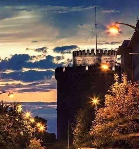 White Tower of Thessaloniki, historical Macedonia Greece