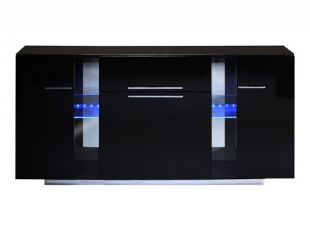 Vertigo Black High Gloss 3 Door Sideboard | Sideboards from FADS