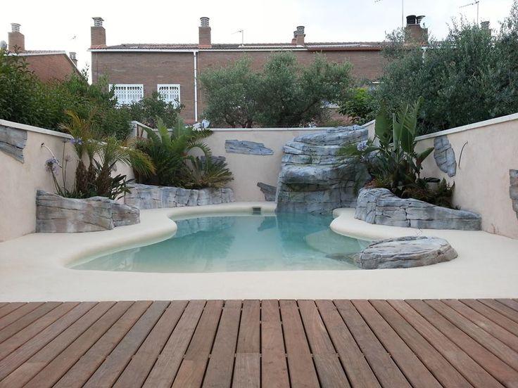 Mejores 102 im genes de viviendas con piscina de arena en - Piscina de arena compactada ...