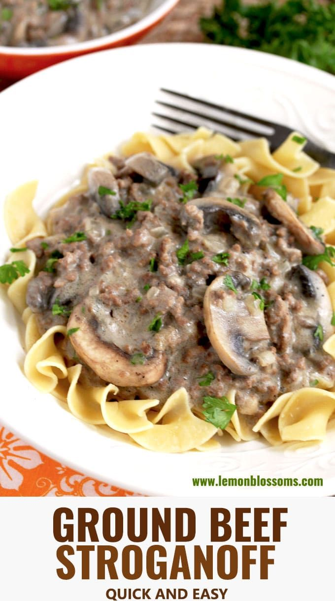 This Ground Beef Stroganoff Features Lean Ground Beef And Sauteed Mushrooms Smothered In A Creamy Mushroom Gravy This Easy To Make Budg Ground Beef Stroganoff