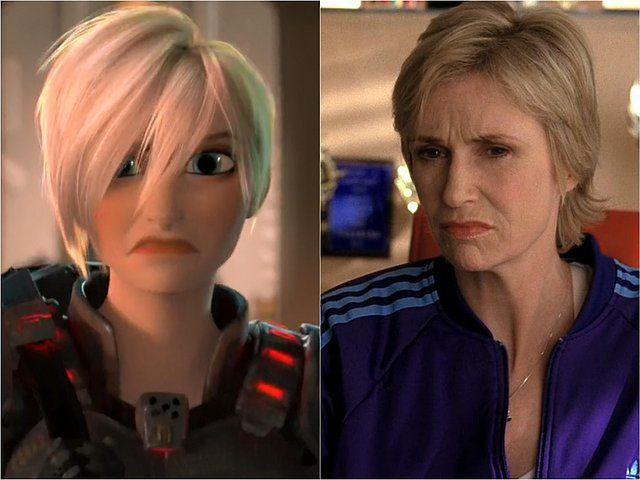 10. Y por último la Sargento Calhoun fue doblada por la actriz de Glee, Jane Lynch.