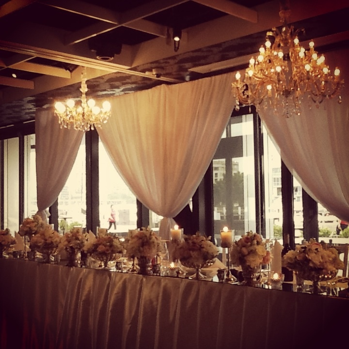 Stunning main table by Chanele Rose Florals at our wedding Doltone House <3