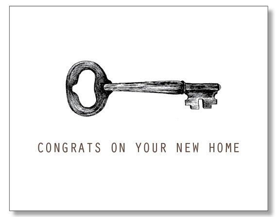 Congrats On Your New Home Housewarming Card Handmade Eco Recycled