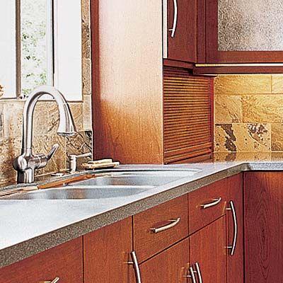 an appliance garage to hide kitchen countertop appliances
