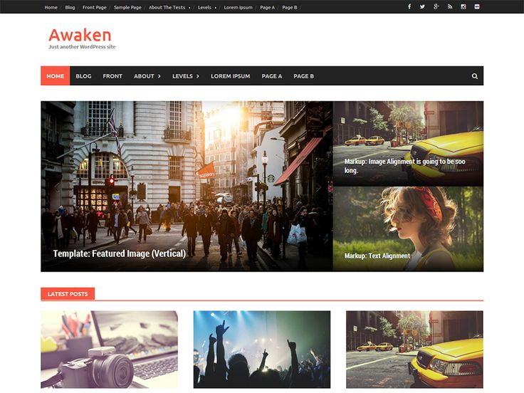 VrArKr / Awaken — Free WordPress Themes