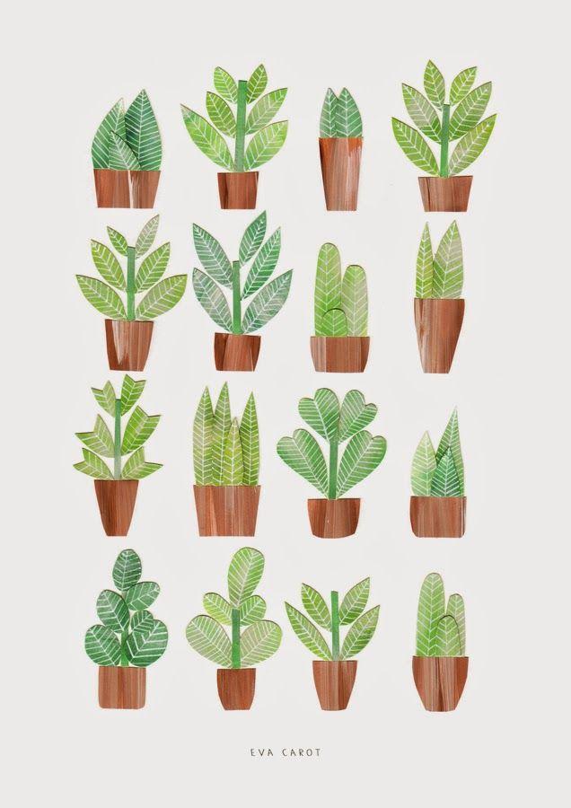 green plants print http://evacarot.blogspot.com.es/