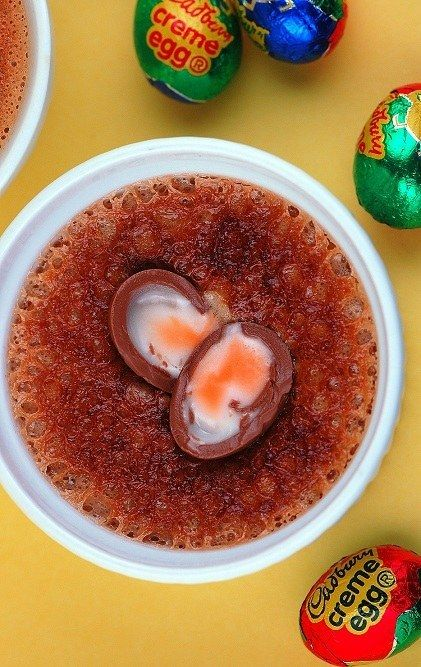 Creme Egg Creme Brulee