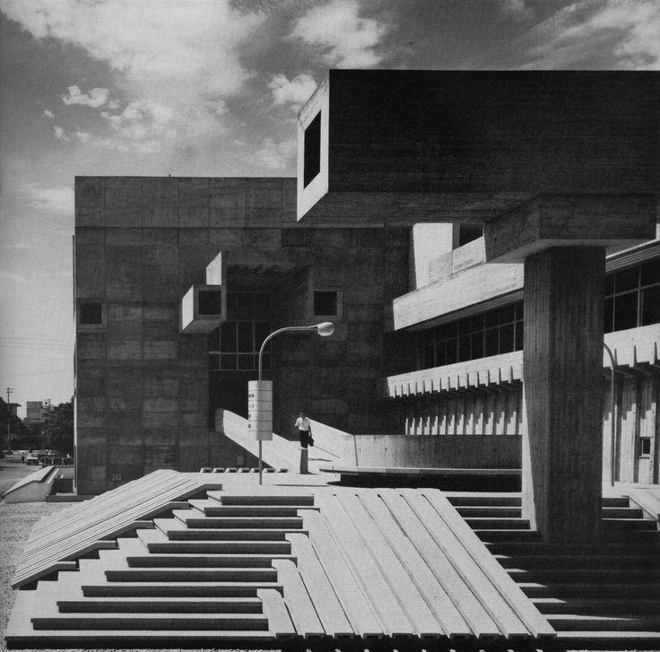 Oita Prefectural Library, Oita, Japan, 1964-66(Arata Isozaki)
