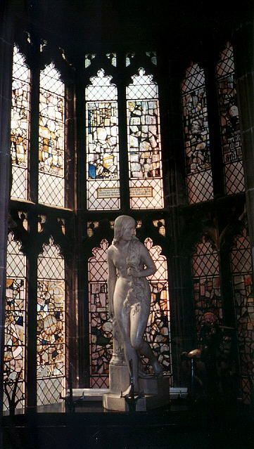 Lady Godiva: St Mary's Guildhall, Coventry, England.