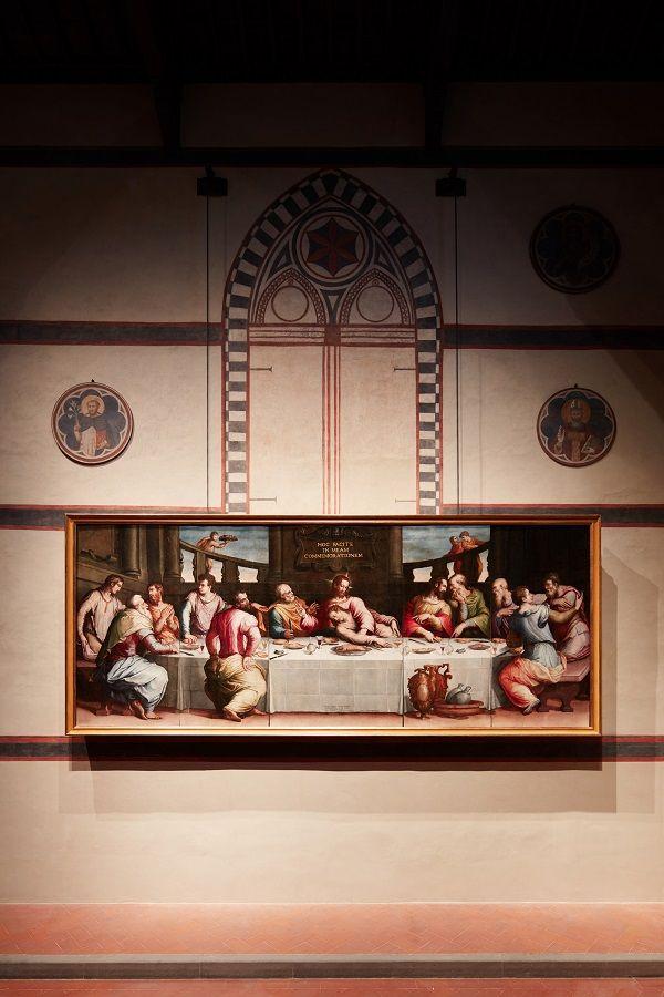 Na een langdurige restauratie door het Opificio delle Pietre Dure schittert Vasari's Laatste Avondmaal als nooit tevoren, in de Santa Croce in Florence.