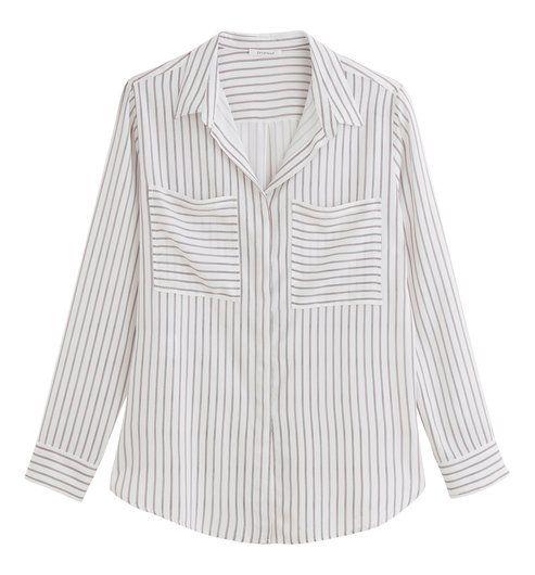 Chemise rayée Femme rayé beige - Promod