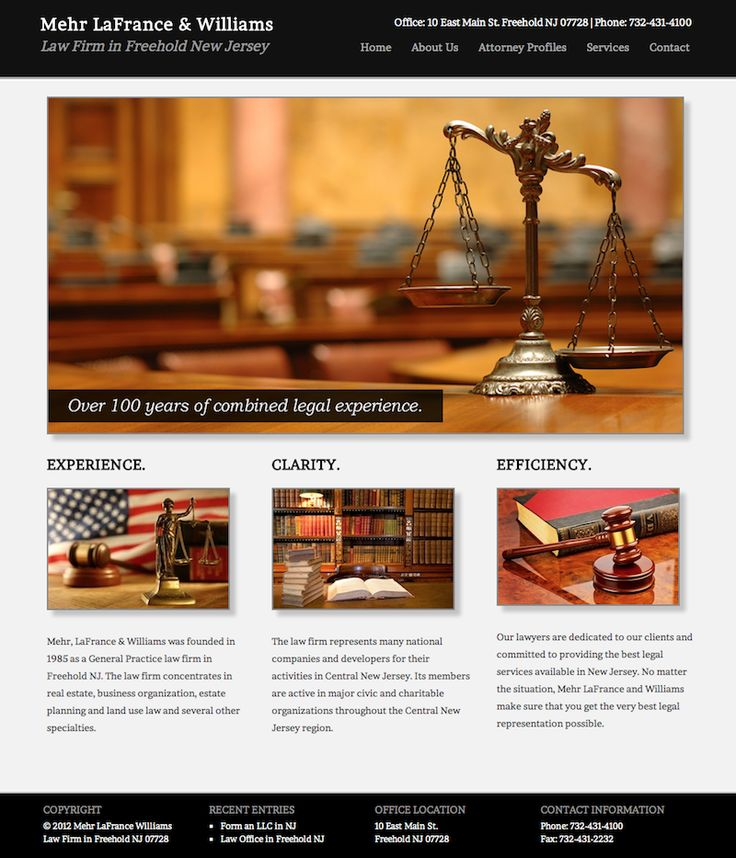 law firm website design / professional web design