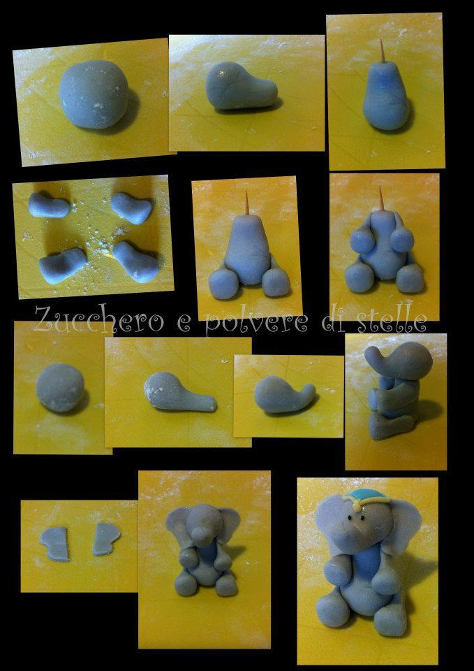 .sugar paste elephant